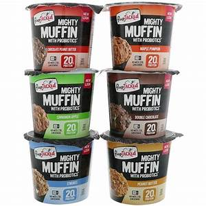 FlapJacked, Mighty Muffins, Variety, 6 Pack, 55 g Each ...
