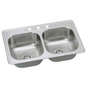 pfsr332283 stainless steel double bowl kitchen sink