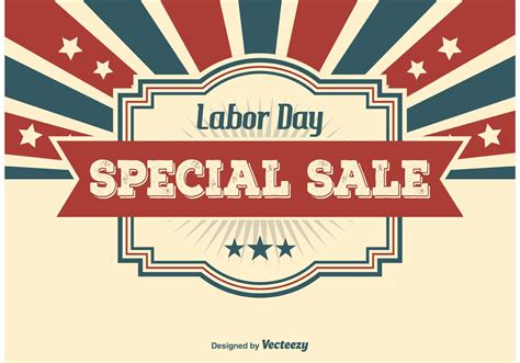 labor day sale illustration free vector