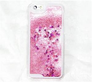 Pink Glitter Waterfall Iphone 6 Case Iphone 6 Plus Case