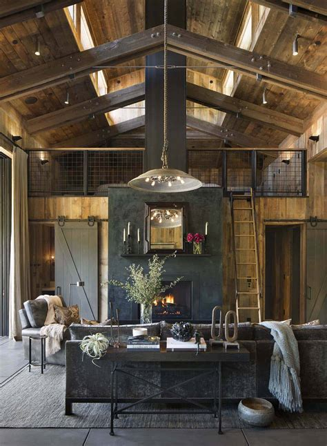 small woodsy cabin features  cozy farmhouse style  napa