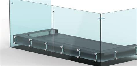 Küchenrückwand Glas Befestigen by Aluminium Glas Punkthalter Treppe 15 17 Mm Glas