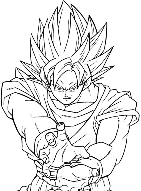 Goku Kleurplaat by Ssj 1 Free Coloring Pages