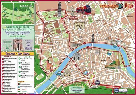 printable tourist map  pisa walk maps florence italy