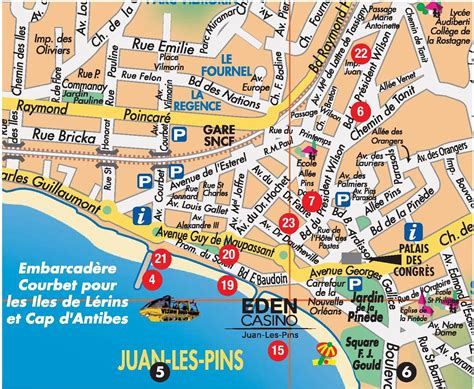 Juan-les-pins Tourist Map