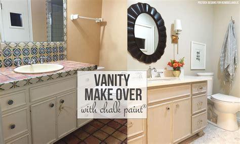 painting bathroom vanity before and after remodelaholic chalk paint 174 bathroom vanity makeover