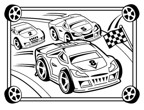Race Car Coloring Pages 360coloringpages