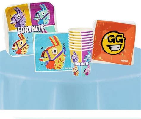 llama fortnite party supplies cups plates napkins fornite
