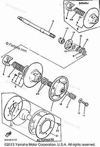Yamaha Snowmobile 1986 Oem Parts Diagram For Secondary