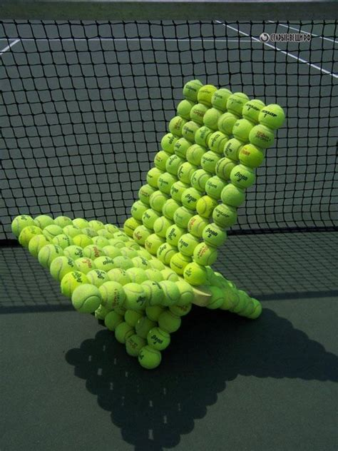unique furniture designs recycling tennis balls