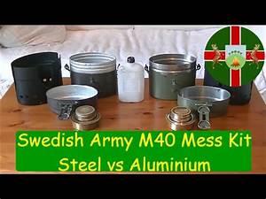 Swedish Army M40 Bushcraft Mess Kit. Steel Vs Aluminium ...