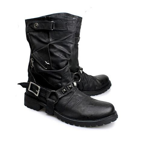 new motorcycle boots british new style retro leather motorcycle boots rivets
