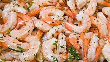 You can tone yours down by using less garlic and crushed red pepper. Chilled marinated shrimp - Diabetes Self-Management