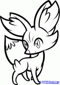 Pokemon X and Y Fennekin Coloring Pages