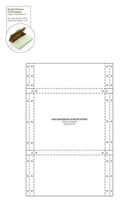 email template pattern dimensional envelope free pattern template downloadable