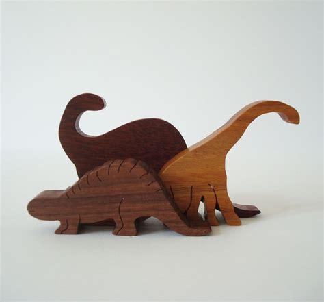 wooden dinosaur toys waldorf wood dinosaurs children s