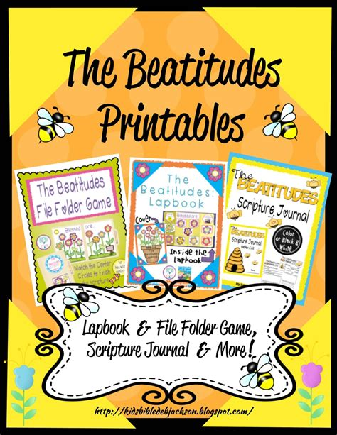 the beatitudes for preschoolers bible for the beatitudes more printables 470