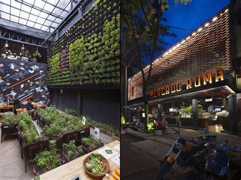 contemporary industrial markets mexico city restaurant