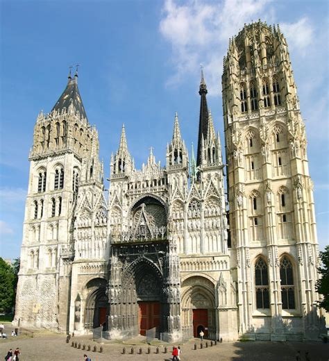 the façade of rouen cathedral b voisin