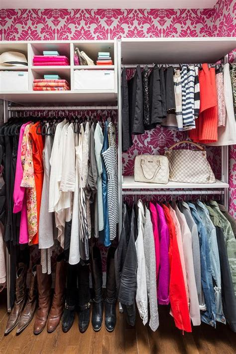 Walk In Closet Wallpaper by Pink Grasscloth Contemporary Closet The Coveteur