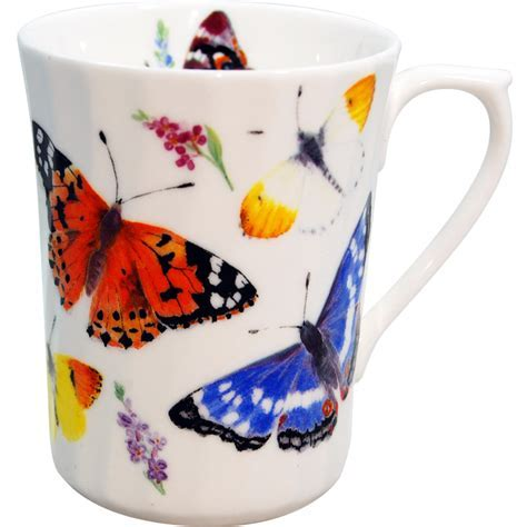 Butterfly Garden Bone China Mug