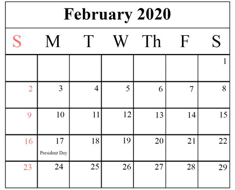 blank february printable calendar excel word