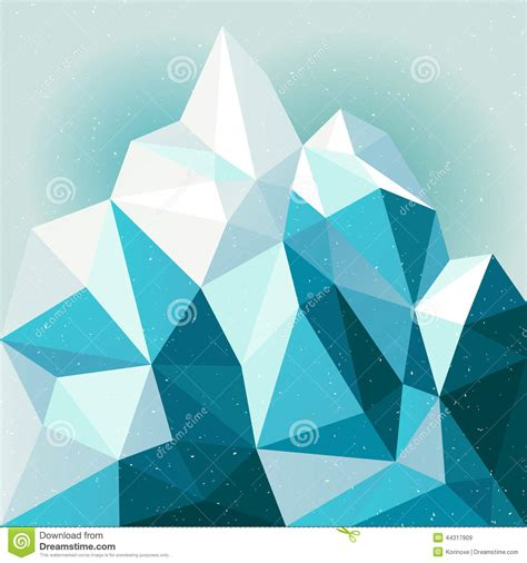 snow mountain background stock vector image  backdrop