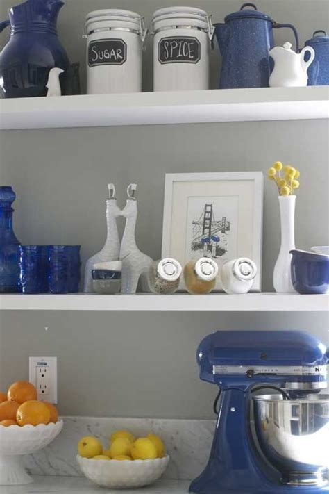 blue home decor ideas  pinterest blue kitchen