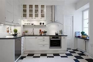 Cuisine Noir Et Blanc : carrelage cuisine en noir et blanc 22 int rieurs inspirants ~ Melissatoandfro.com Idées de Décoration