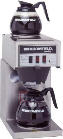 bloomfield  koffee king coffee brewer wo faucet