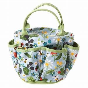 Gisela graham kitchen garden canvas gardening bag gisela for Gardening bag