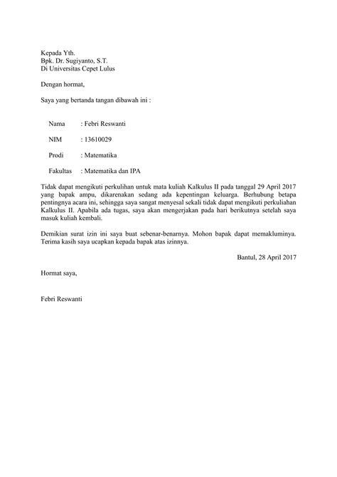 surat izin sakit formal suratmenyurat net