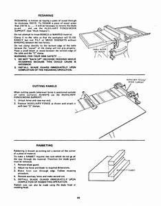 Craftsman 11324181 User Manual 12 In Motorized Table Saw