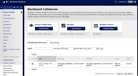 Bowie State Blackboard by How Do I Create A Bb Collaborate Session 183 Bowie State