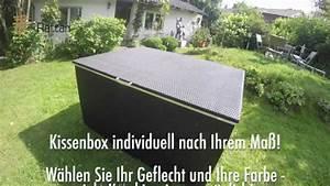 Schieferplatten Nach Mass : rattan profi kissenbox auf ma youtube ~ Markanthonyermac.com Haus und Dekorationen