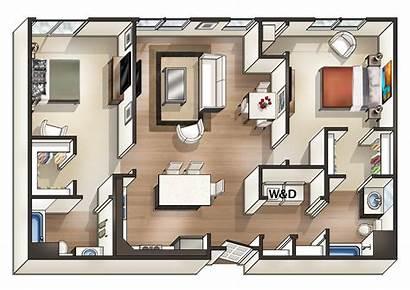 Bedroom Apartments Square Apartment Wood Spacious Bathroom