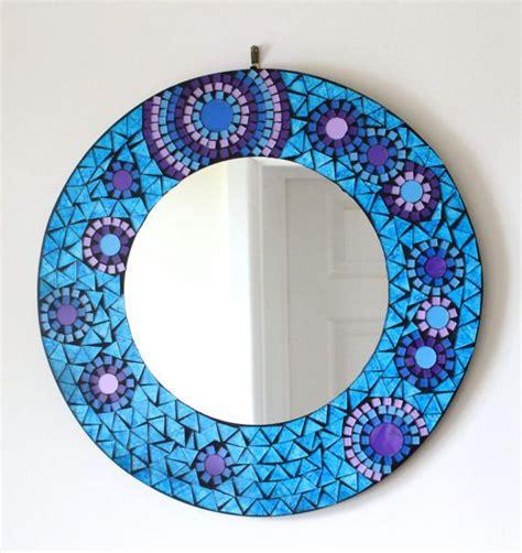 spiegel mosaik deko runde mosaik spiegel blaues glas design bad spiegel mosaik mosaikspiegel mosaik diy