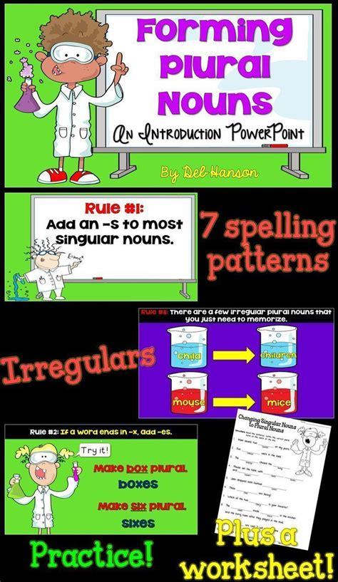 plural nouns powerpoint  images plurals nouns