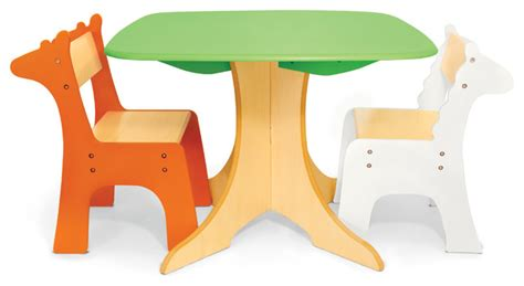 safari collection tree table with giraffe and zebra