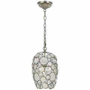 Palla light quot antique silver crystal pendant