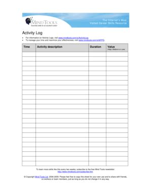 log sheet template forms fillable printable samples   word pdffiller