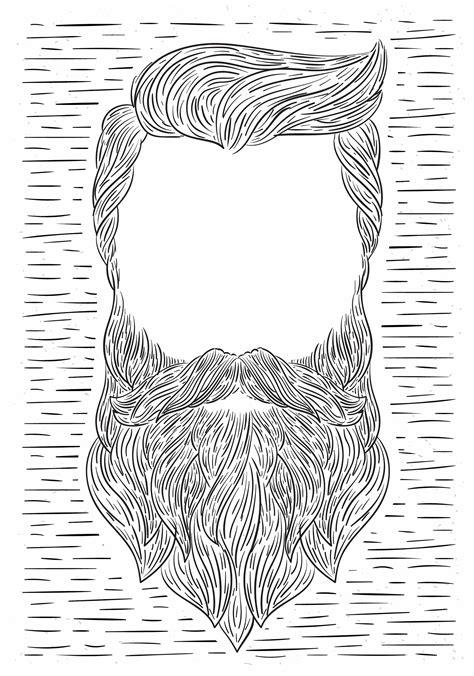 Hand Drawn Vector Beard Illustration - Download Free ...