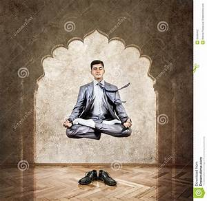 Yoga Meditation In The Air Stock Photography - Image: 35499452