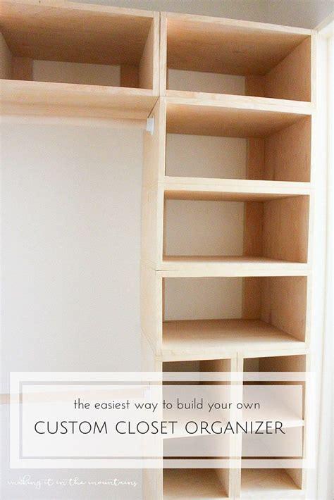 how to build a closet system diy custom closet organizer the brilliant box system
