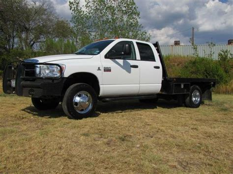 Sell used 2007 Dodge Ram 3500 Dually W/flatbed NO RESERVE
