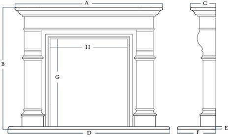 unique fireplace mantel height  model  mantel width
