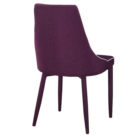 westport stylish dining chair in purple fabric dining