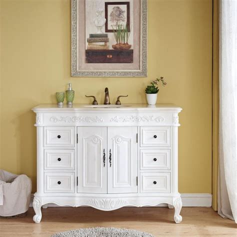 silkroad exclusive   antique white single sink