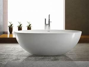 Bilder Freistehende Badewanne : freistehende badewanne piemont aus mineralguss wei matt oder gl nzend 180x80x60 oval ei ~ Sanjose-hotels-ca.com Haus und Dekorationen