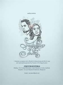 weding invitation by seerow com via behance malayalam With invite wedding cards gallery kollam kollam kerala